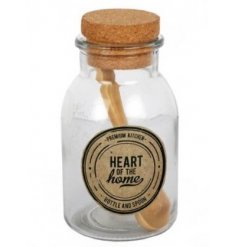 From the popular Heart of The Home range is this simple little cork top bottle and wooden spoon