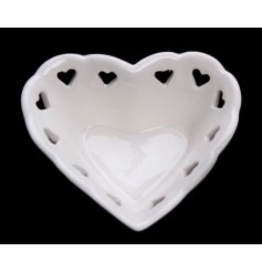 A simply sweet heart styled trinket pot, keep safe all your loved jewellery