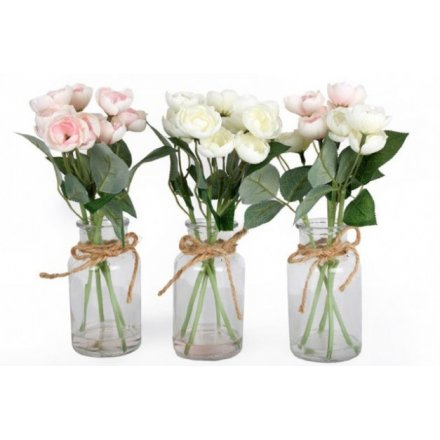 Decorative Rose Jars, 3asst