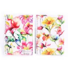 Set of 2 vintage floral themed note books. Keep your day to day lists kept on these colourful floral note pads.