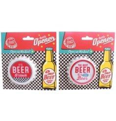 Cap Bottle Opener  Open your bottles of beer in style this summer with these quirky retro themed bottle openers