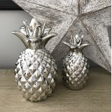 Silver Ceramic Pineapple Ornament