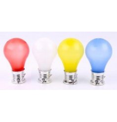 4 Assorted colour solar light bulbs
