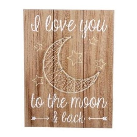 Moon String Art Wall Plaque 40cm