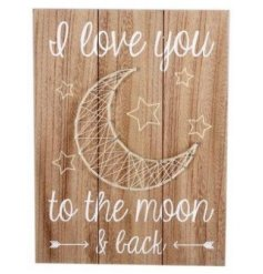Add this stylish wooden plaque into your home for that rustic living feel