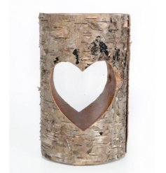 Bring a hint of the woodlands into your home with this beautiful bark wrapped candle holder