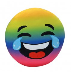 Rainbow Laughing Tears Emoji Cushion