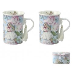 This beautiful duo of drinking mugs will bring a fabulously vintage feel to any kitchen