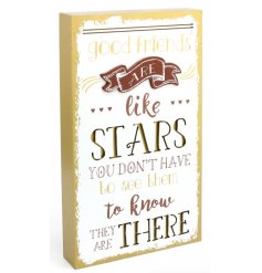 A stylish gold painted 3D plaque with a sweet sentiment quote