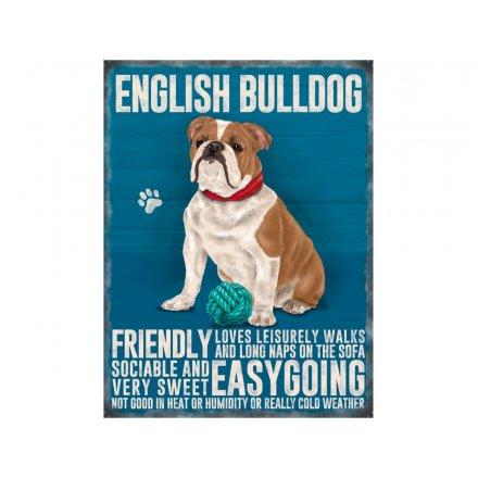 British Bulldog Metal Sign