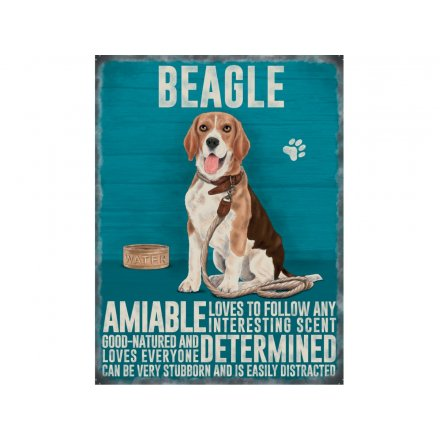 Hanging Metal Beagle Sign