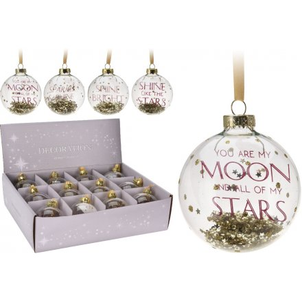 Gold Clear Christmas Baubles