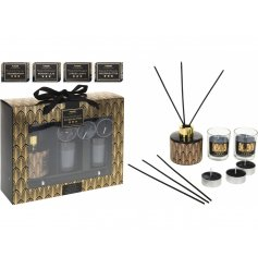 This beautiful assortment of black and gold themed gift sets are the perfect gifts to give or receive