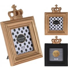 A stylish assortment of Crown themed picture frames