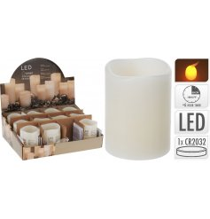 A fine quality and realist LED church candle with timer and flickering flame.