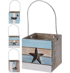 This coastal charm themed set of 3 candle holders will look stunning in any coastal room