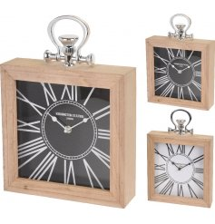 Bring a hing of modern life into your home with these stylish block table clocks