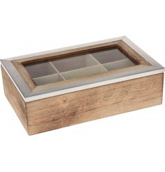 A distressed wooden base topped with a smooth metal frame builds up this new vintage chic range
