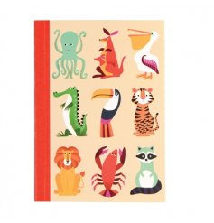 A practical A6 lined notebook from the popular Colourful Creatures range.