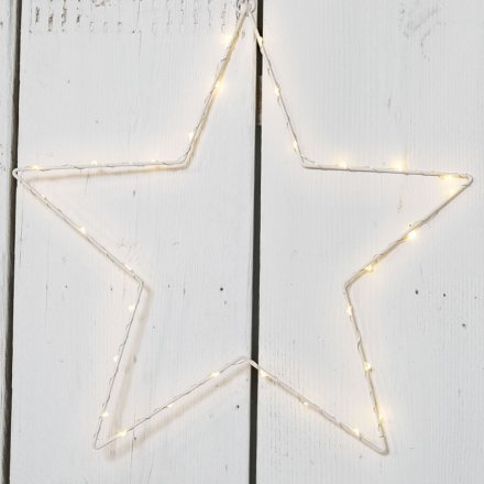 Wire LED Star 41cm