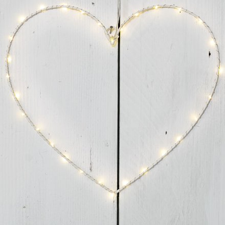 A stunning wire LED heart decoration. A must have this season!