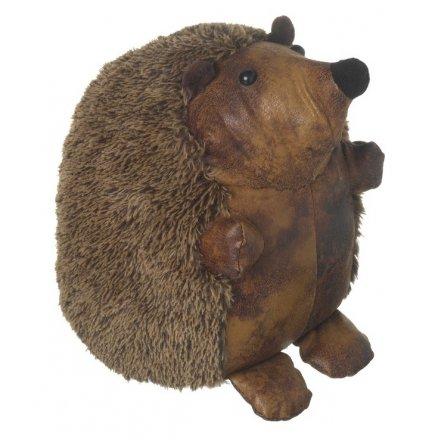 Faux Fur Hedgehog Doorstop