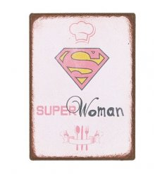 A small pink Superwoman magnet