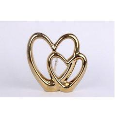 a simplistic yet elegant themed ceramic based heart ornament