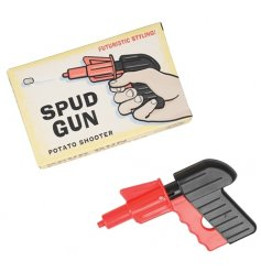A fun retro toy! This spud gun potato shooter is a fun toy with a futuristic style box.