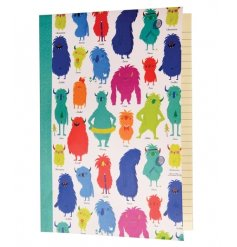 A colourful A5 lined notebook from the popular Monsters of the World range.