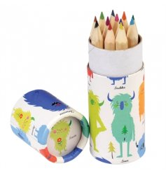 A set of 12 coloured pencils in the popular Monsters of the World tube. A great gift item for creative kids on the go.
