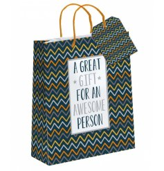 A great gift for an awesome person. A stylish retro style large sized bag, perfect for many occasions.