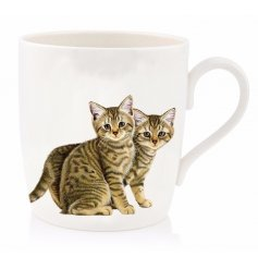 add a warm tabby touch to your home with this cute little kitten printed china mug
