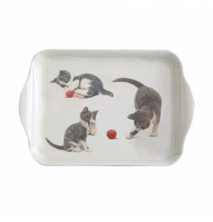 add a warm tabby touch to your home with this cute little plastic tray