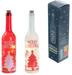 An assortment of 2 LED Christmas Elf Bottles