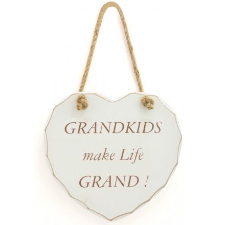 Shabby Heart Plaque - Grandkids