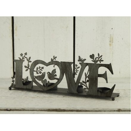 Iron Love Candle Holder