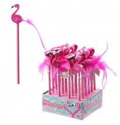 Write in style with fun and quirky pink flamingo pencils, complete with a flamingo topper and pink feather tail