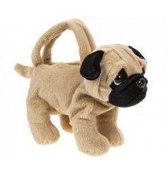 Pug Dog Handbag   Let your little one shop in style with this adorably soft pug shaped handbag