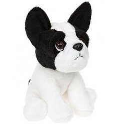 A cute and cuddly frenchie bull dog soft toy