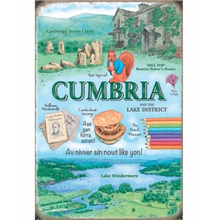 Cumbria Scene Metal Sign