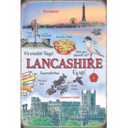 Lancashire Scene Metal Sign