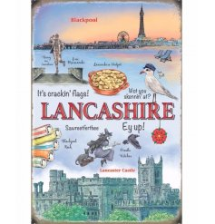 Add some Lancashire charm to your home with this new line of country life metal signs