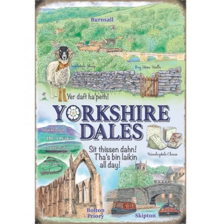 Yorkshire Scene Metal Sign 20cm