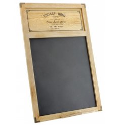 Bring home that vintage farm house feel with this natural toned wooden chalkboard