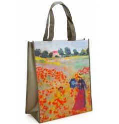 A beautiful painting inspired shopper bag, with its large size and sturdy handle,