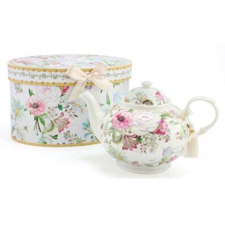 Floral Bouquet Teapot