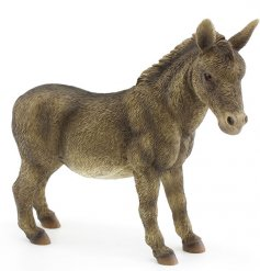 A donkey figurine from the popular range of the Leonardo Collection   A great decorative piece for any animal enthusiast