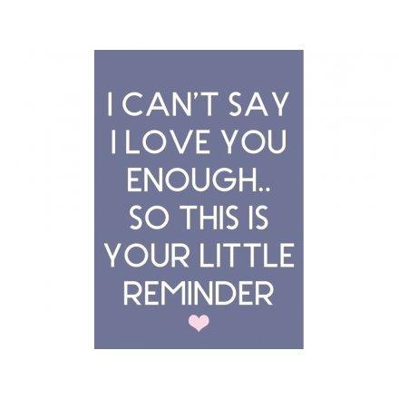 Little Love Reminder Magnet