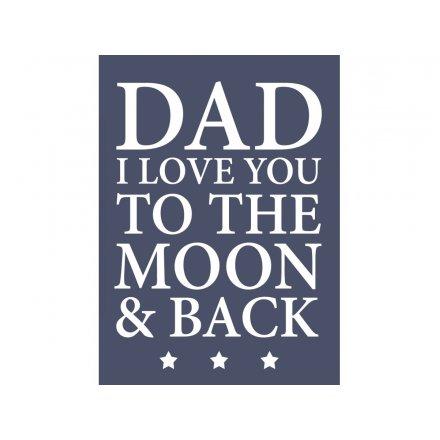 Dad Moon & Back Magnet